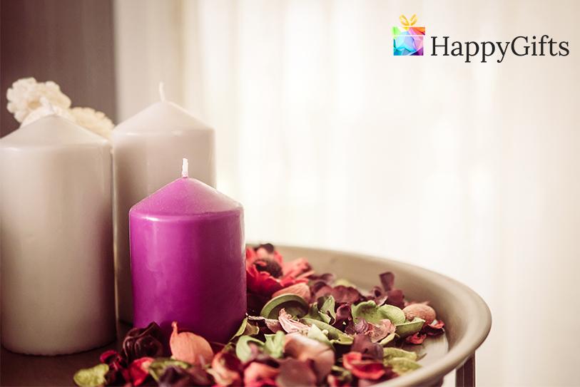 ароматни свещи за подарък за жена за юбилей