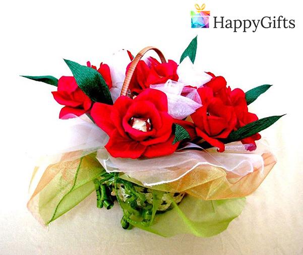 Цветя с бонбони