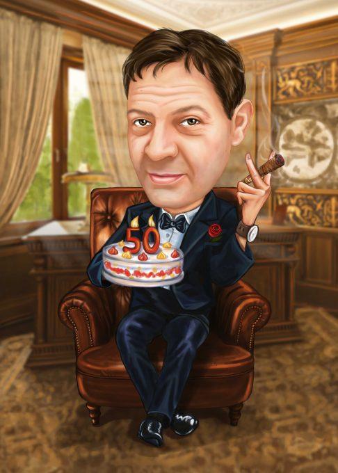 Карикатура за рожден ден