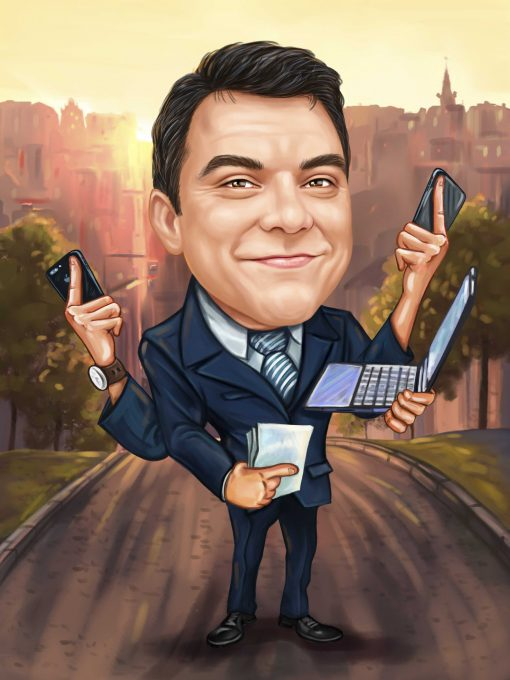 Карикатура за шефа