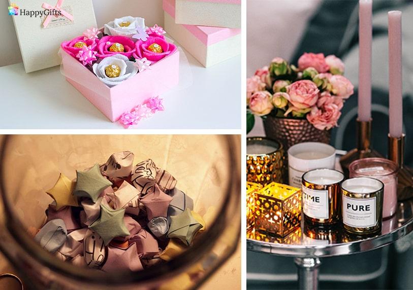 букет от бонбони пожелания буркан ръчно изработени свещи луксозни стилни подаръци за класната дипломиране