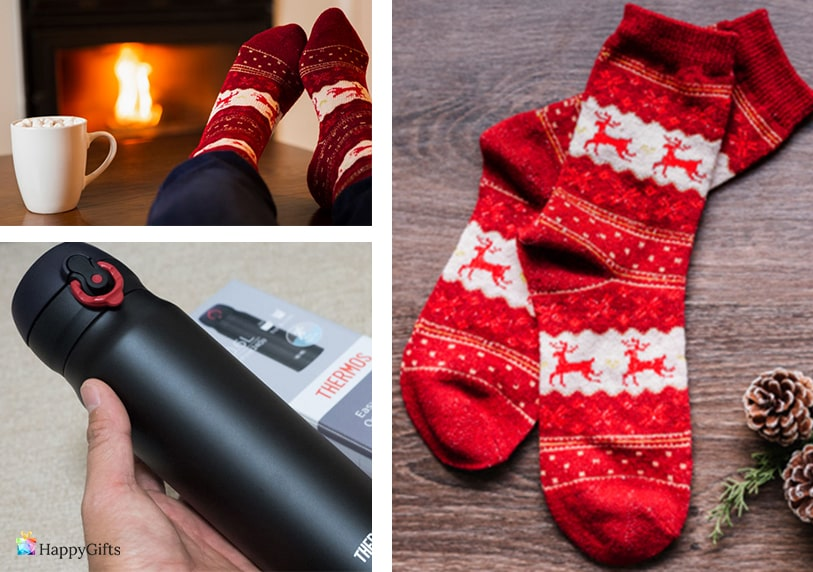 коледни чорапи термос коледен подарък за класен