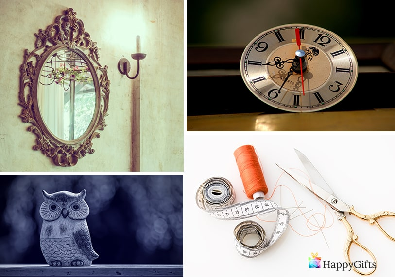 часовник огледало ножица с конци
