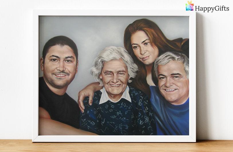 луксозен портрет подарък за баба
