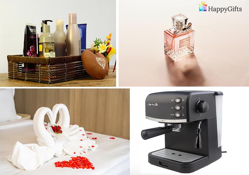 кафе машина луксозен спа комплект грижа за тялото парфюм