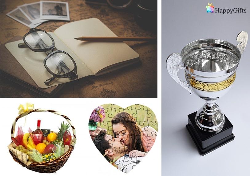 пъзел със снимка на влюбени кошница с плодове и алкохол купа за най-добър приятел