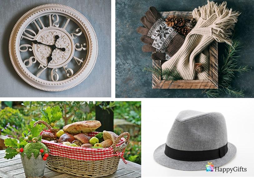 сантиментални подаръци за леля часовник шал шапка кошница с плодове