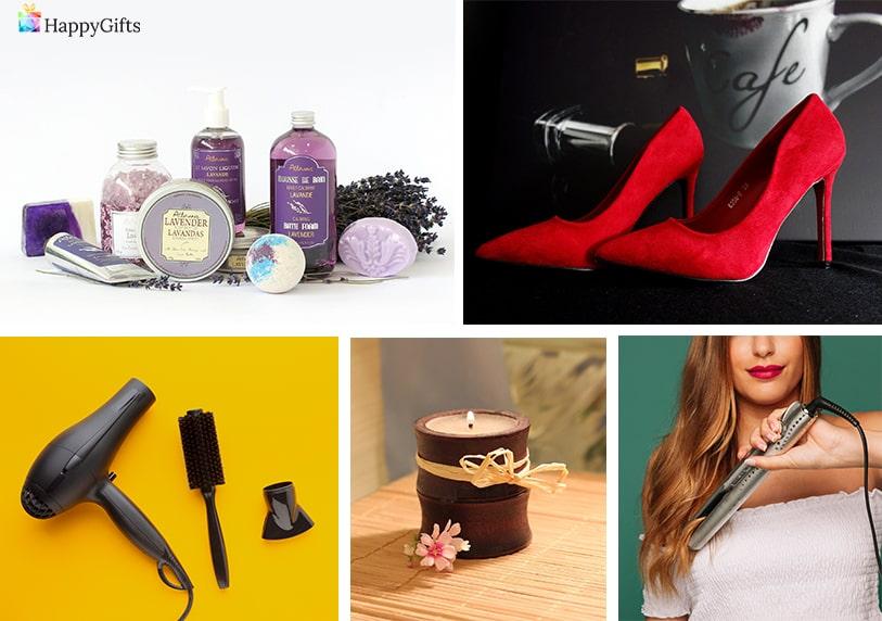 преса за коса ароматна свещ сешоар луксозен комплект лусиони за тяло