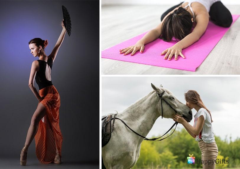 подарък за булка танци езда йога