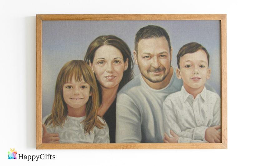 Семеен портрет по снимка подарък за леля