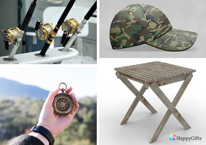 компас стол за риболов въдица шапка