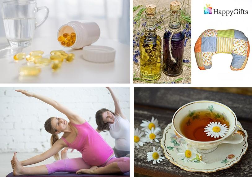 оригинални подаръци за бременна приятелка йога чай против гадене витамини възглавница за кърмене