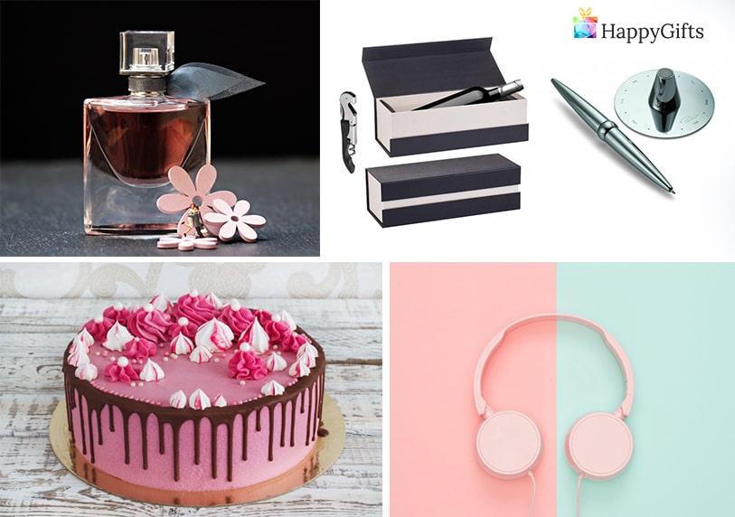 подаръци за рожден ден за любимата торта парфюм писалка слушалки