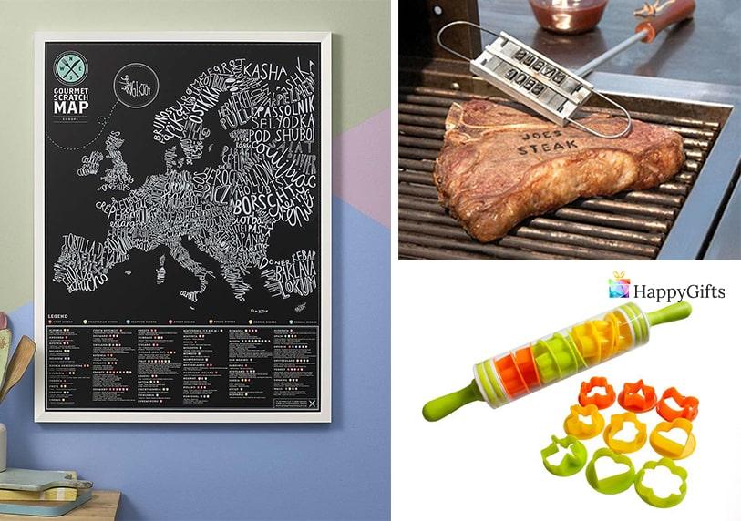 Оригинален подарък за хора които обичат да готвят точилка карта на света