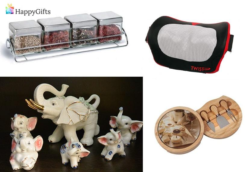 актуален подарък, масажор, порцеланово слонче, сет за сирена, комплект за подправки
