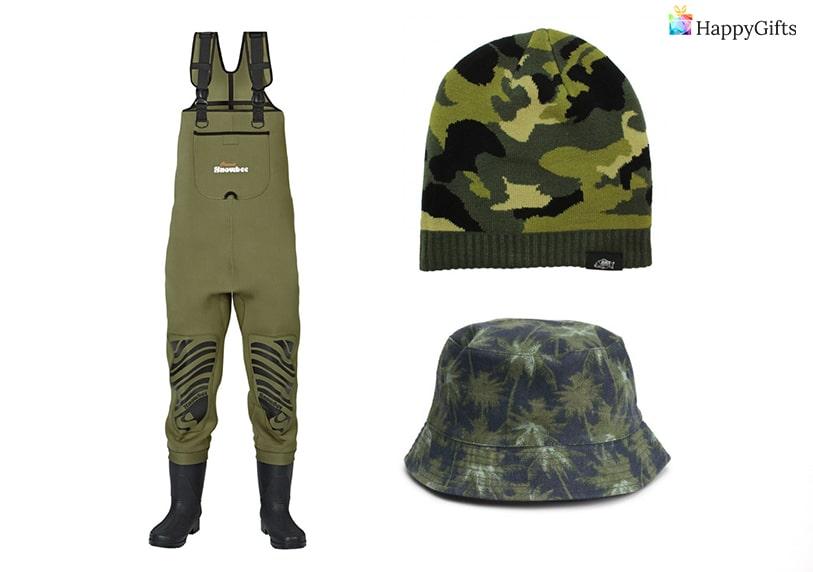 Дрехи и облекла подходящи за подарък за рибар гащеризон зимна шапка
