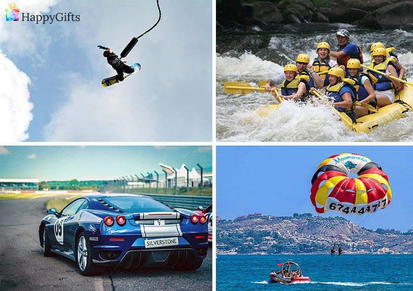 екстремни подаръци за мъж на 30 скок с бънджи парашут рафтинг дрифт