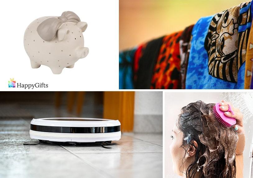 евтини бюджетни подаръци за жена на 30 касичка шал