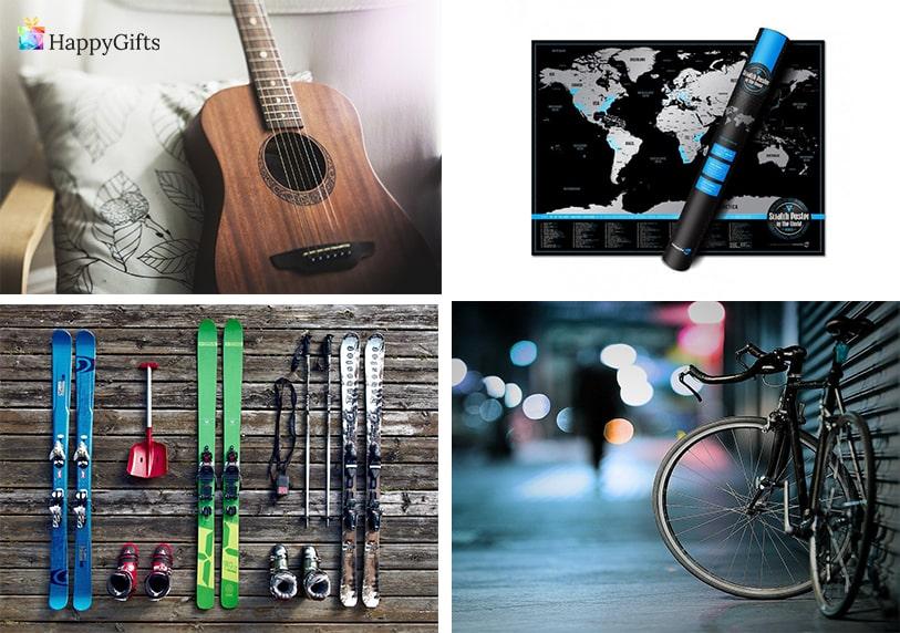 хоби подаръци за гаджето момче китара колело кси скреч карта