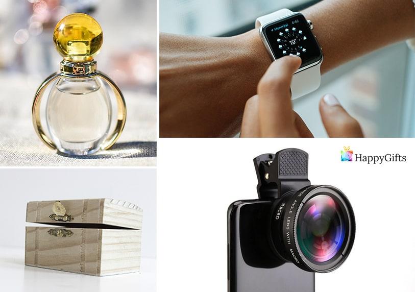 идеи за хубави подаръци за момиче тинейджър камера за телефон леща смарт часовник парфюм кутия за бижута