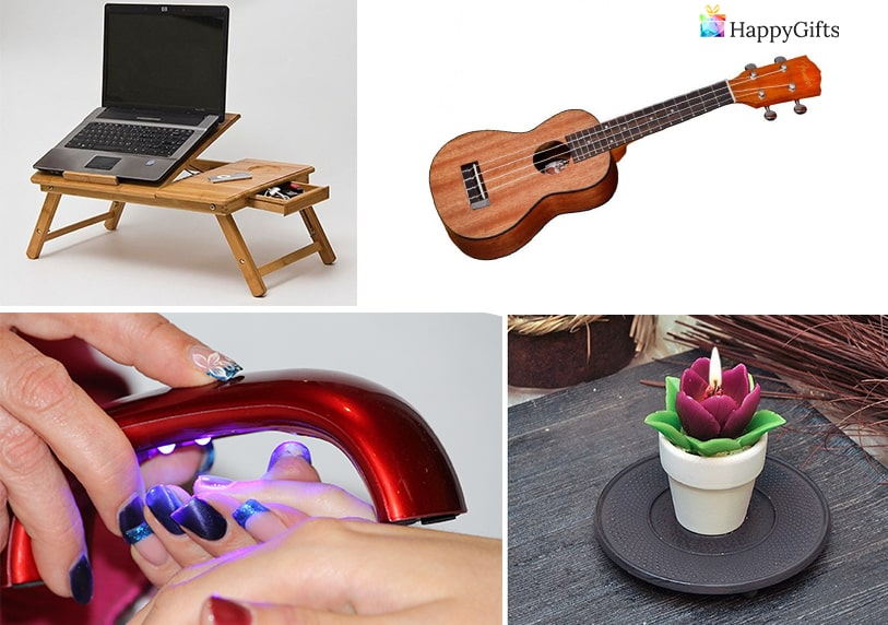 интересни подаръци за тинейджърка китара масичка за лаптоп свещ маникюр