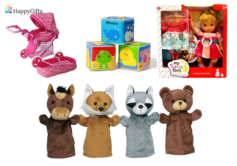 интересни подаръци за момиченце на една годинка кукла бебе кубчета бебешка количка играчка