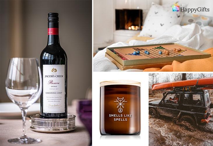 Интересни подаръци за млада двойка; дегустация на вино, бордова игра, ароматни свещи, офроуд приключение