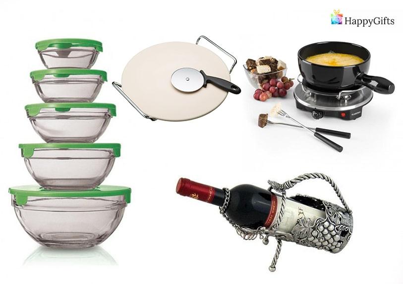 Кухненски подаръци за готвачи кутии за храна поставка за вино фондю нож за пица