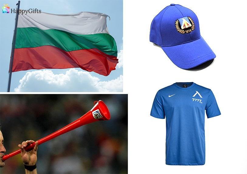 подаръци за фенове на футболен клуб левски синя шапка тениска българско знаме