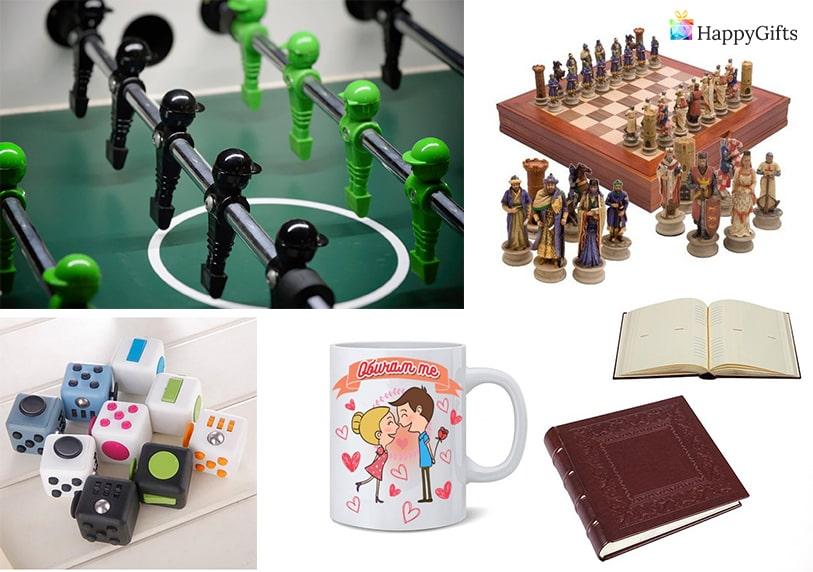 личен подарък за 40 годишен мъж юбилей чаша шах албум зарчета джаги