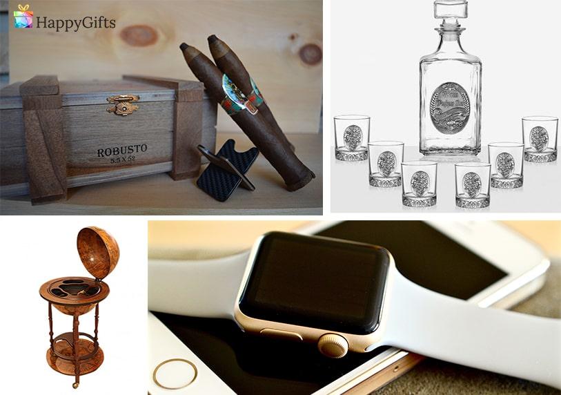 луксозни подаръци за 50 годишнина на мъж смарт часовник кутия с пури глобус минибар