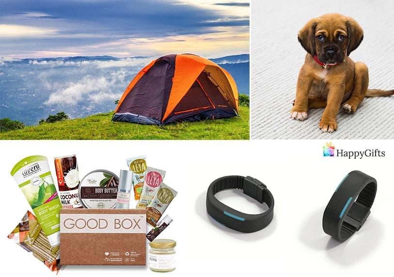 луксозни подаръци за жена на 20 или 25 палатка къмпинг фитнес гривна кутия с гримове домашен любимец