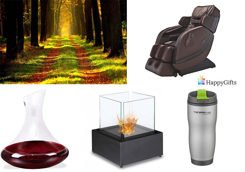 скъпи луксозни подаръци за 50 годишен юбилей на жена масажен стол термос гарафа за вино изкуствена камина