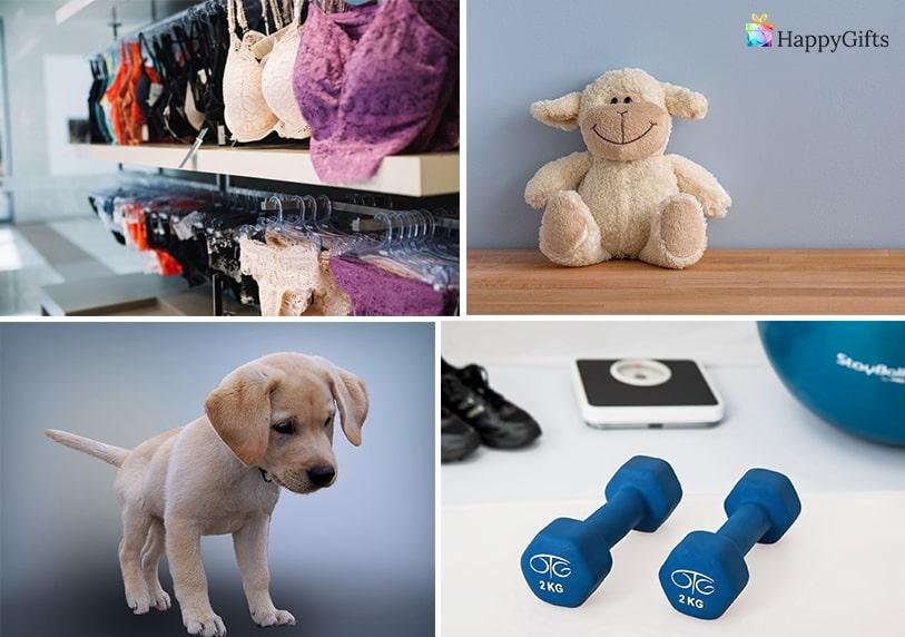 примери за неуспешни подаръци за жена на 30 плюшена играчка куче тежести сутиен