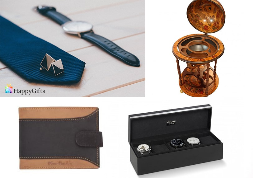оригинален подарък за мъж на 40 часовник вратовръзка кутия за ръчен часовник глобус минибар портфейл