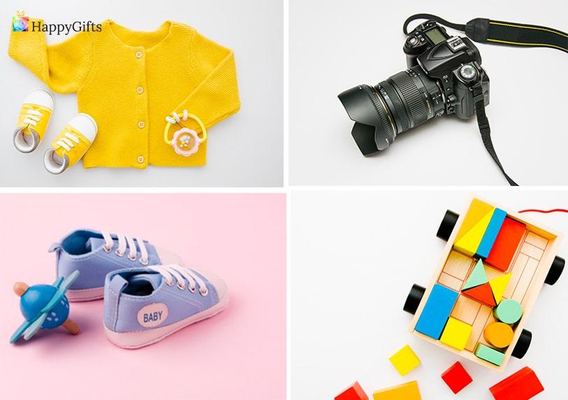 оригинални идеи за едногодишно момченце фотосесия пъзел дрешки обувки