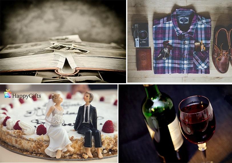 Оригинални подаръци за ергенско парти албум със снимки скъпо вино торта дрехи