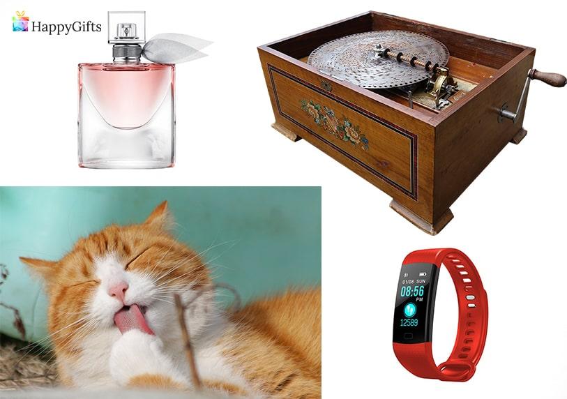 оригинални подаръци за жена на 70 или 80 парфюм котка фитнес гривна