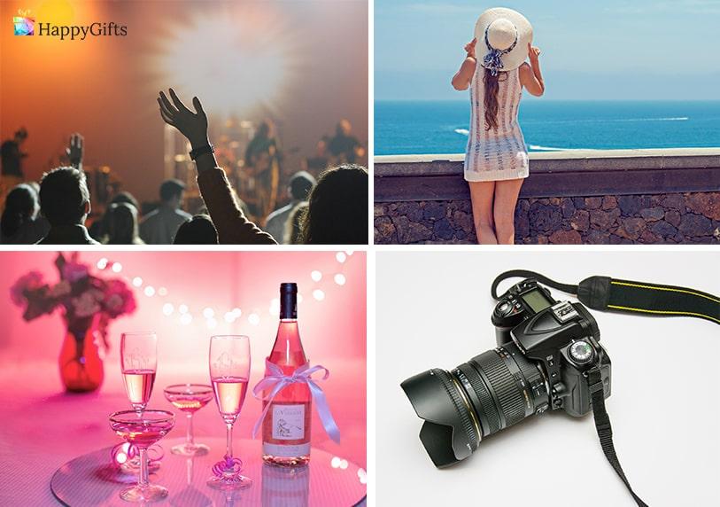 оригинални подаръци за момиче на 18 шампанско фотоапарат почивка концерт