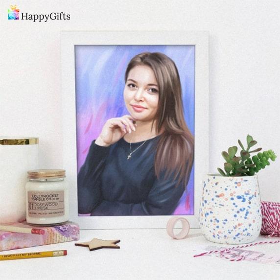 оригинален портрет по снимка за жена на 30