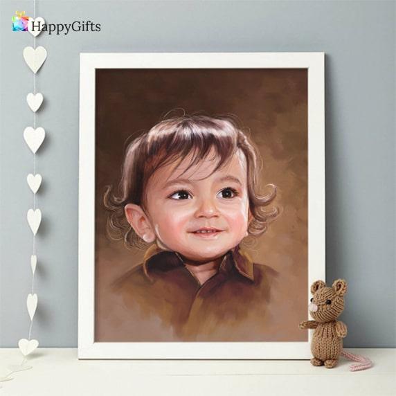 персонализиран портрет по снимка подарък за кръщене
