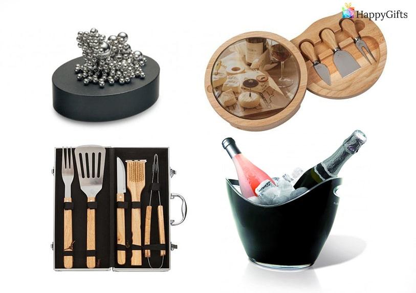 Подаръци за 20 годишнина на фирма юбилей сет за сирена вино и шампанско декораци за офис