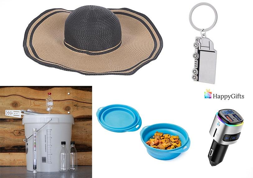 подарък за мъж шофьор на камион шапка кутия за храна запалка за кола ключодържател