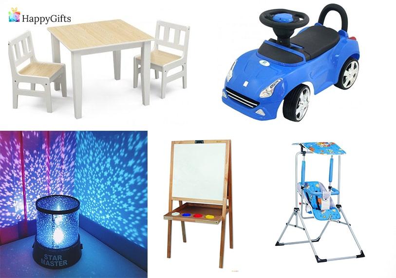подаръци за дете на 1 годинка момиченце масичка и столче люлка кракомобил нощна лампа