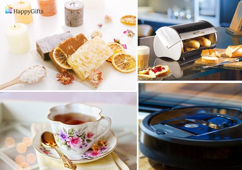 полезни подаръци за жена на 70 или 80 прахосмукачка сервиз за чай или кафе