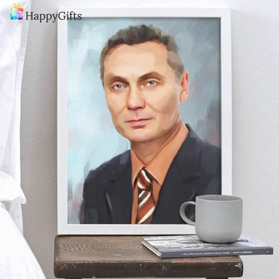 подарък портрет за шефа фирмена годишнина