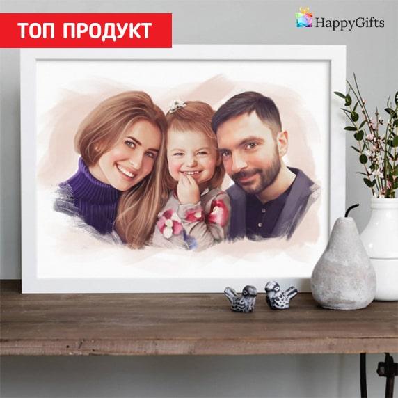 Карикатура по снимка; портрет по снимка