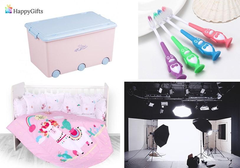 практични подаръци за момиче на 1 годинка фотосесия кошарка четка за зъби кашон за играчки