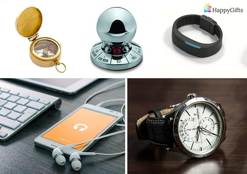 Практични подаръци за ергенско парти календар фитнес гривна часовник за ръка компас абонамент за онлайн книги