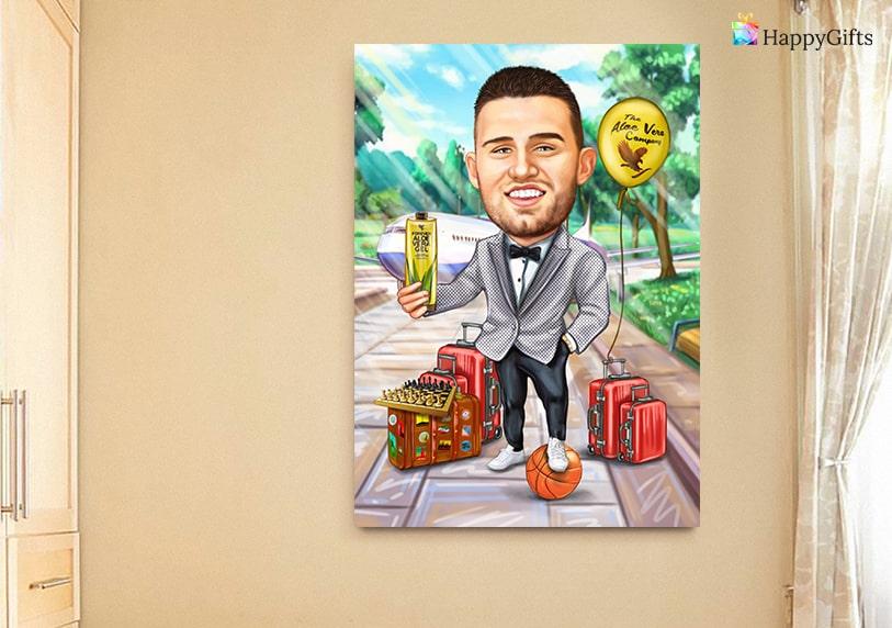 сантиментален подарък за рожден ден на мъж на 20 25 карикатура по снимка